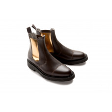 Kinsey Dealer boot stitched toe brown